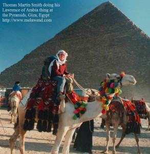 aaaa - Tom on Camel at Pyramids