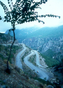 i - greek switchback road