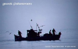 rrrrrrrr - greek fishermen silhouette