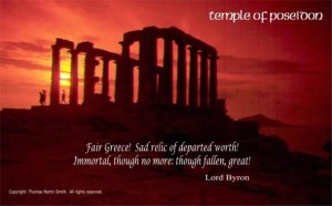 ssssssssss - temple of poseidon sunset w quote