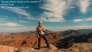 EGYPT - Sinai - ddd - Tom atop Mount Sinai