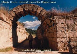 GREECE OLYMPIA Olympia, Greece - Tom Smith walks into the Stadion - stadium