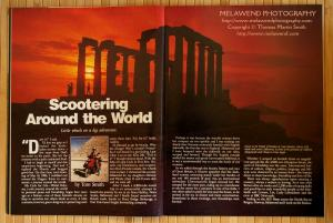 GREECE - Rider article - double-page spread