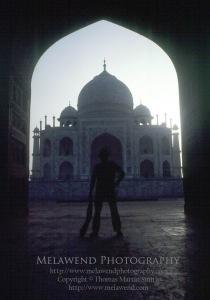 INDIA TAJ Tom as Indy - at the Taj Mahal