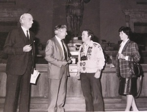 ITALY - Rome 1- MH - Tom is received by Carlo Campano, City Hall, Rome