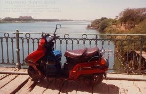Melawend on bridge over Nile Khartoum
