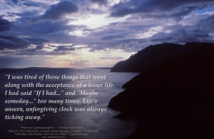 QUOTE Greek sunset - time passing by b