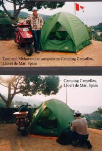 SPAIN - Camping Canyelles, Lloret de Mar, Spain - Tom's campsite