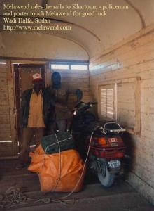 SUDAN Wadi Halfa, Sudan - Melawend rides the rails to Khartoum 2