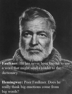 Hemingway on Falkner - big words